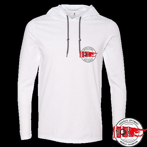 Kapucnis fehér HOOK póló